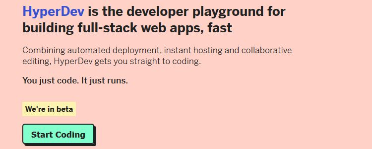 HyperDev  developer playground building full-stack web apps designer news