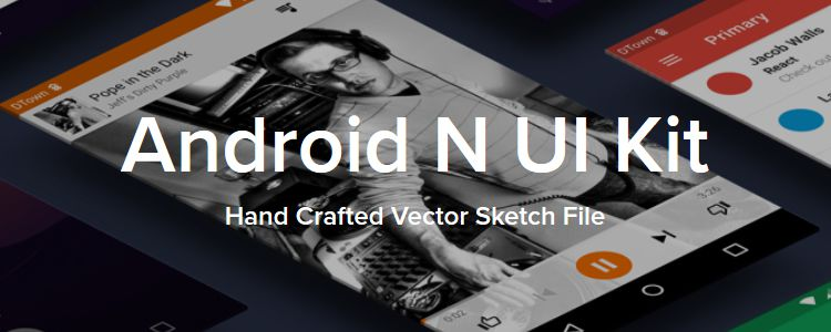 Freebie Android N UI Kit for Sketch designer news