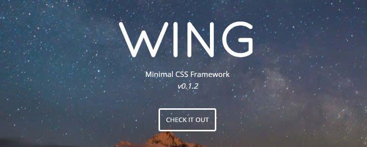 Wing Minimal CSS Framework
