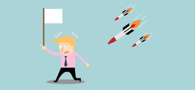Surrender missile attack Creative Conflict
