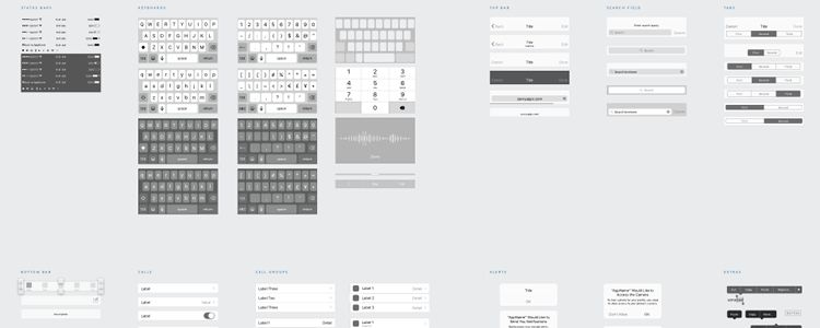 The Savvy iOS Wireframe Kit Sketch