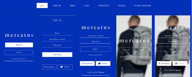 Free Mercatus Mobile eCommerce UI Kit Sketch