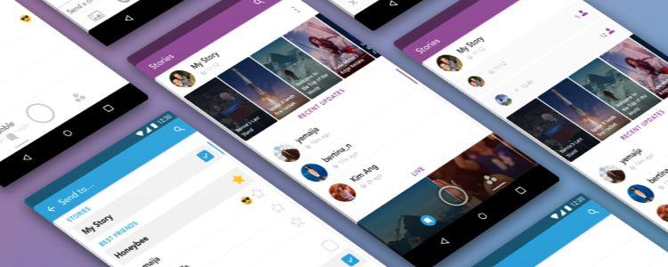 Snapchat Bedava UI Takımı Kroki