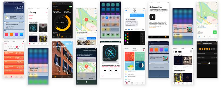 Puzzles iOS 10 UI Kit Sketch
