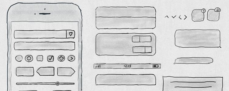 Free Hand Drawn iPhone 6s UI Kit PSD