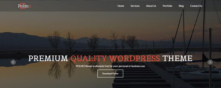 Polmo One Page Free Theme WordPress