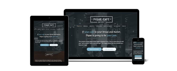 Pique Business Theme WordPress