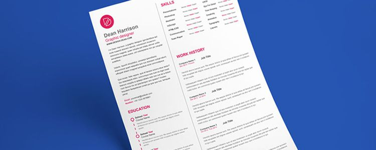 Free CV Template InDesign
