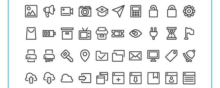 100 Free UI Interface Icon Set with 100 Icons PNG SVG