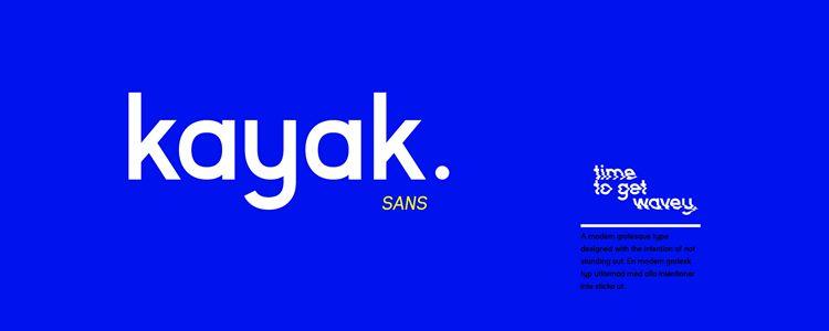 Kayak Sans Free Typeface