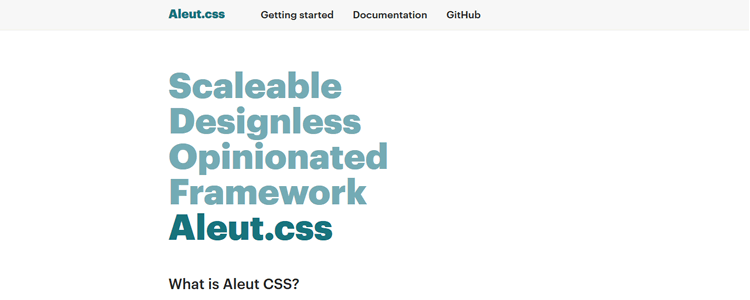 Aleut css powerful web framework designed with scalability and performance