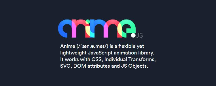 anime.js flexible lightweight JavaScript animation library