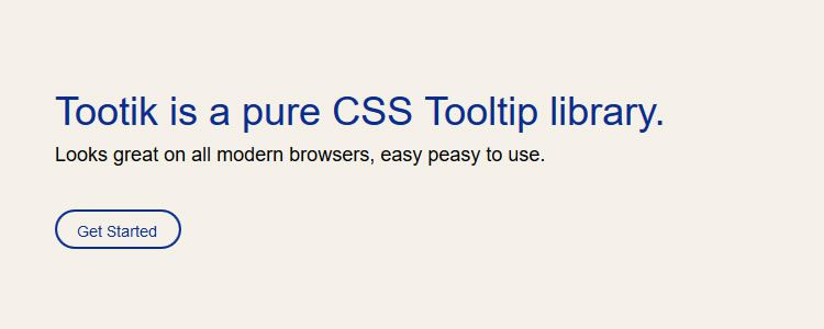Tootik pure CSS Tooltip library