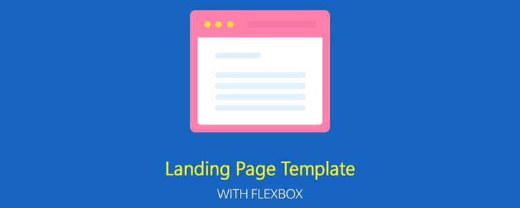 Freebie Responsive Landing Page Template With Flexbox