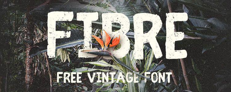 Freebie Fibre Vintage Font