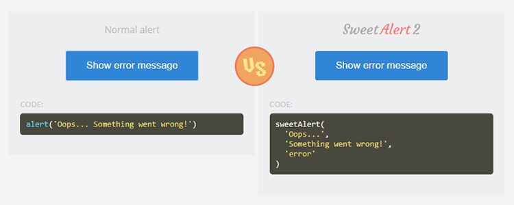 SweetAlert2 beautiful customizable replacement for JavaScript Alert