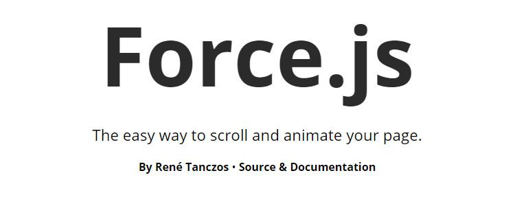 Force.js easy way scroll animate your page
