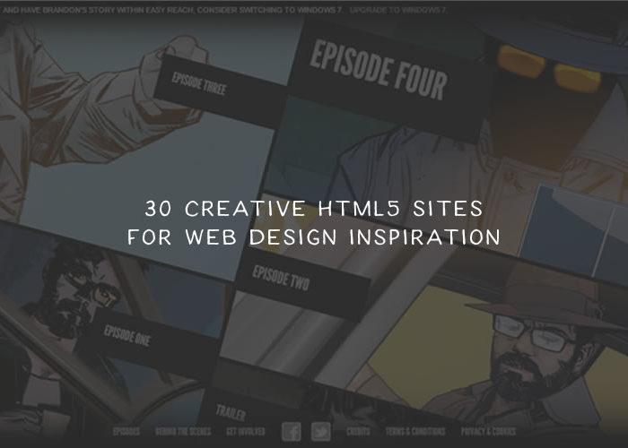 30 Creative HTML5 Sites for Web Design Inspiration