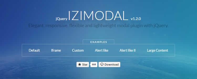 iziModal.js lightweight modal jQuery plugin
