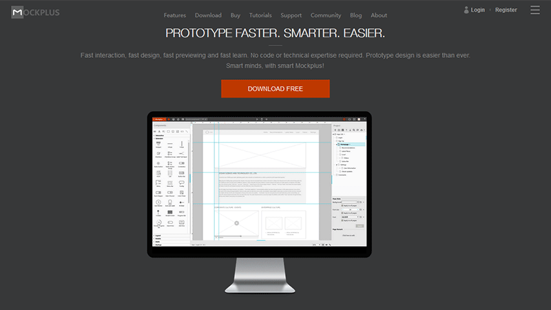 Mockplus Helps You Prototype Faster, Smarter and Easier