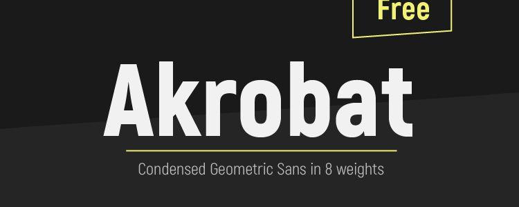 Akrobat Modern Sans Serif Font