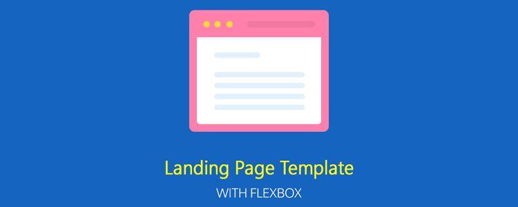Flexbox ile ücretsiz Duyarlı Açılış Sayfası Şablonu