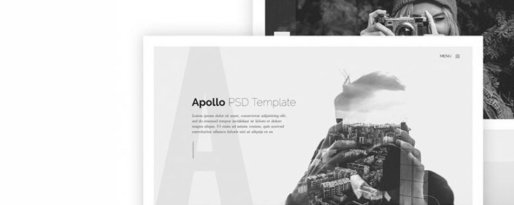 Apollo One-Page Web Template for Photographers