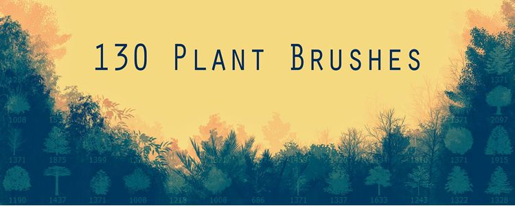 free Plant Photoshop Brushes