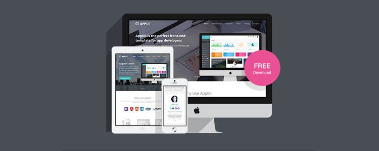 AppKit free Bootstrap Landing Page Template