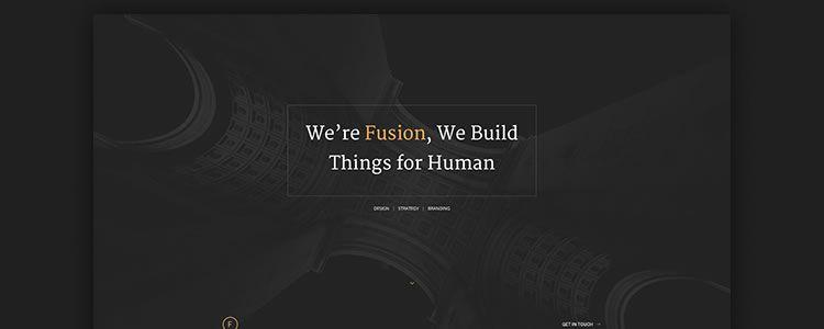 Photoshop PSD Free Fusion Portfolio Template