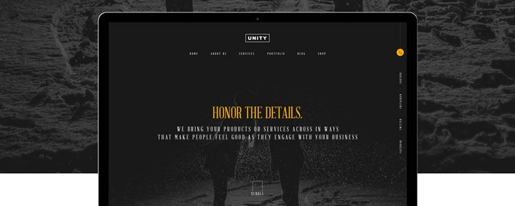 Photoshop PSD Free Honor Web Template
