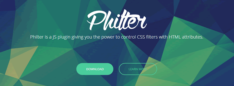 jQuery plugin vanilla JavaScript Philter control CSS filters HTML attributes