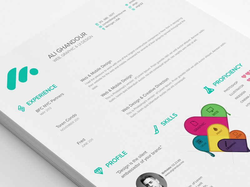 how to create a creative resumes