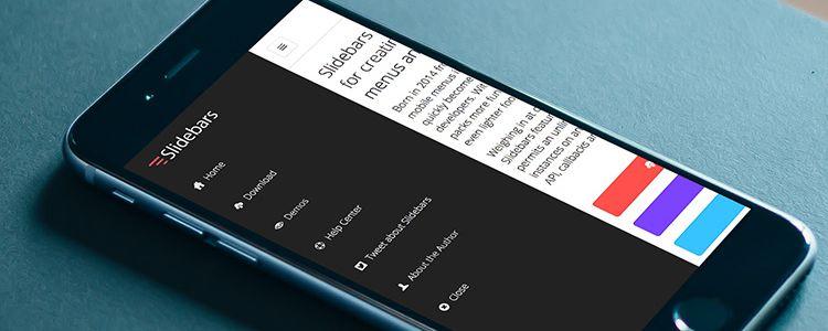 Slidebars jQuery Framework menu nav