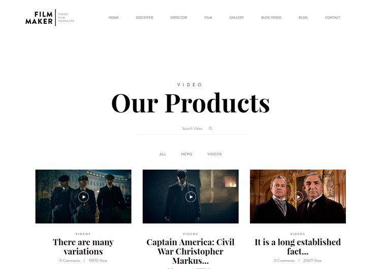 FilmMaker video wordpress theme