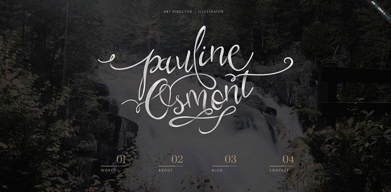 Pauline Osmont handdrawn typography web design trend
