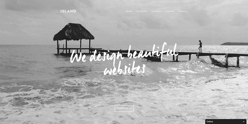 We Are Island handdrawn typography web design trend