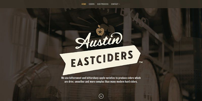 Austin Eastciders handdrawn typography web design trend