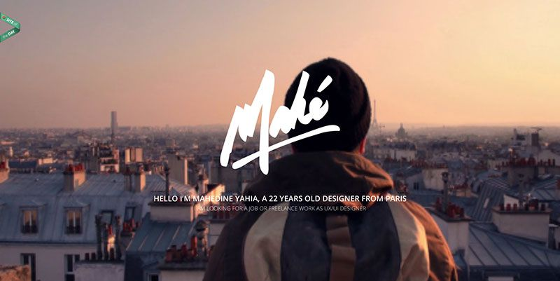 Mahedine Yahia creative portfolio handdrawn typography web design trend