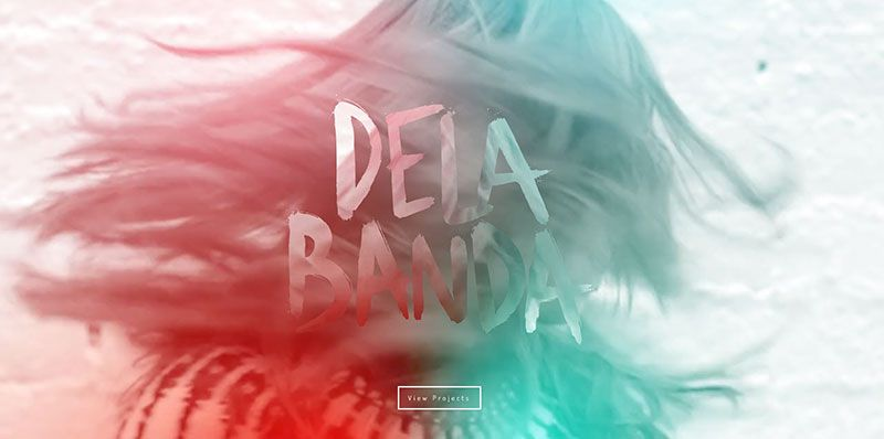 Pilar de la Banda handdrawn typography web design trend