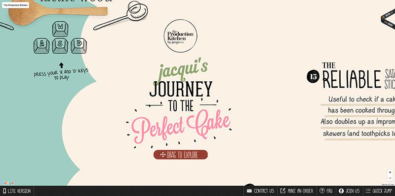The Production Kitchen handdrawn typography web design trend