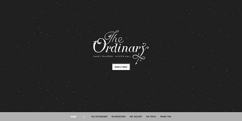 The Ordinary handdrawn typography web design trend