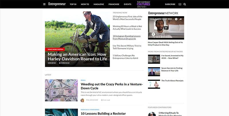 magazine web layout newspaper Entrepreneur