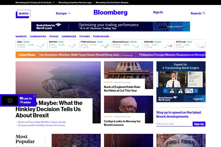 magazine web layout newspaper Bloomberg