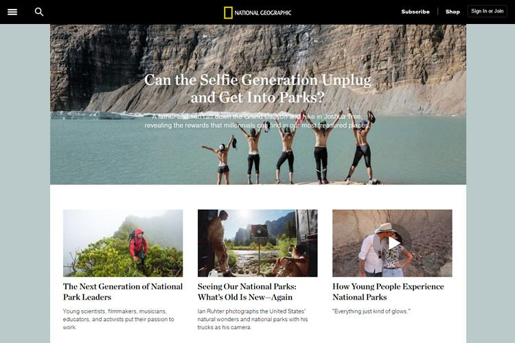 magazine web layout newspaper National Geographic