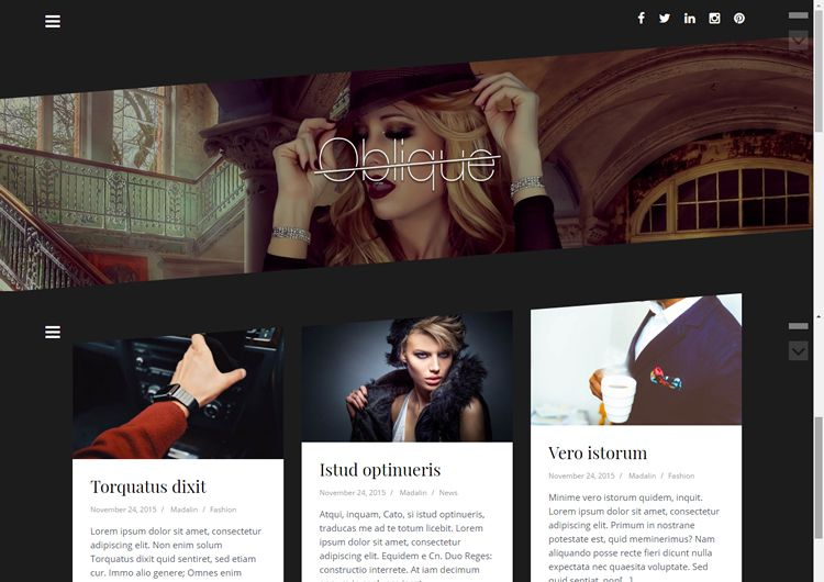 Oblique Pro video wordpress theme
