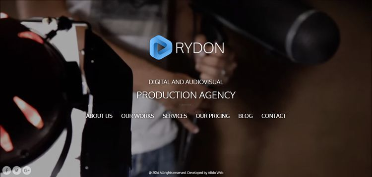 Rydon video wordpress theme