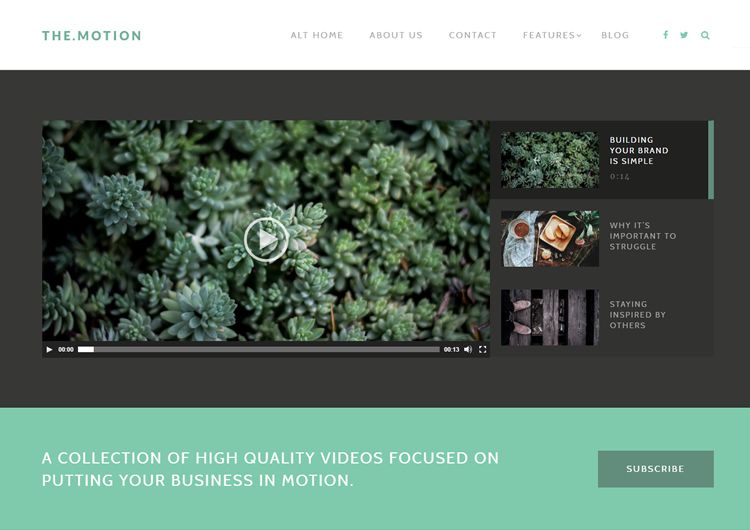 TheMotion video wordpress theme