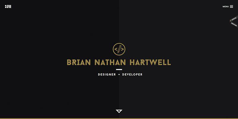 Brian Nathan Hartwell ultra minimal web design