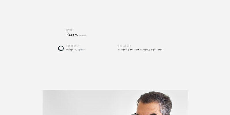 Kerem Suer ultra minimal web design